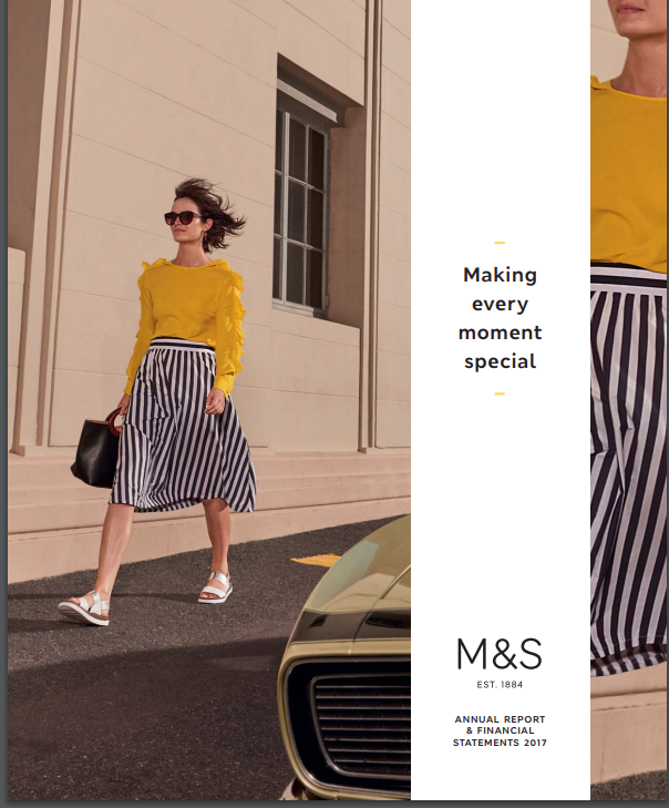 2017 MARKS & SPENCER integrated report award winner by the IIRC