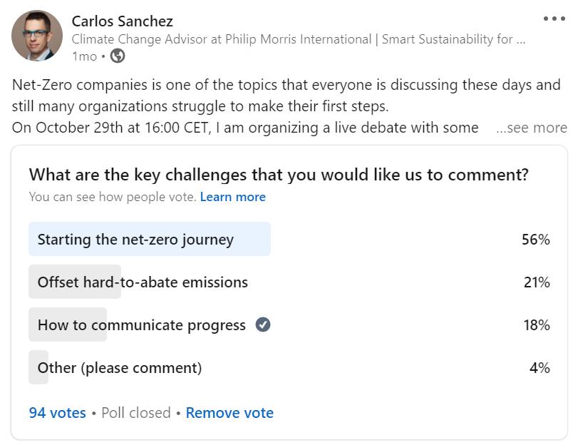 Empezar el viaje de cero emisiones netas es una prioridad